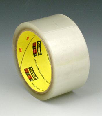 "2"" x 165' 3M™ Scotch® Hot Melt Adhesive Box Sealing Tape 375 - Clear (3.1 mil) (36 per carton)"