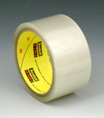 "3"" x 165' 3M™ Scotch® Hot Melt Adhesive Box Sealing Tape 375 - Clear (3.1 Mil) (24 per carton)"