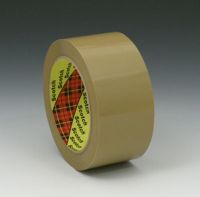 "2"" x 165' 3M™ Scotch® Hot Melt Adhesive Box Sealing Tape 373 - Tan (2.5 mil) (36 per carton)"