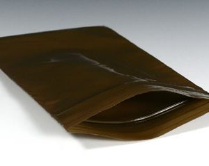 """8"""" x 14"""" Amber Zipper Bag (3 mil) (1000 per carton)"""