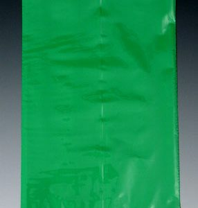 "12"" x 20"" Colored Low Density Flat Poly Bag - Green (2 mil) (500 per carton)"
