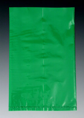 "12"" x 15"" Colored Low Density Flat Poly Bag - Green (2 mil) (1000 per carton)"