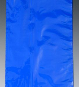 "10"" x 12"" Colored Low Density Flat Poly Bag - Blue (2 mil) (500 per carton)"