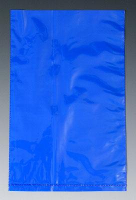 "10"" x 12"" Colored Low Density Flat Poly Bag - Blue (2 mil) (500 per carton)"
