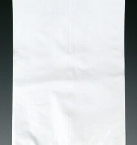 "15"" x 18"" Colored Low Density Flat Poly Bag - White (2 mil) (1000 per carton)"