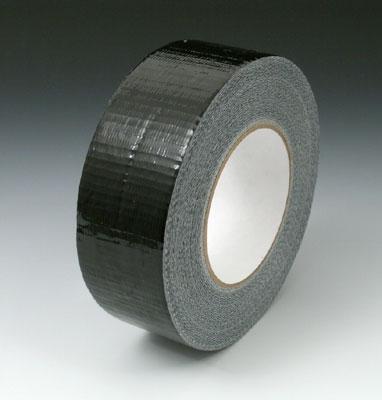 "2"" x 180' Colored Duct Tape - Black (9 mil) - 24 Rolls per Carton"