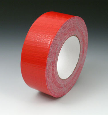 """2"""" x 180' Colored Duct Tape - Red (9 mil) - 24 Rolls per Carton"""