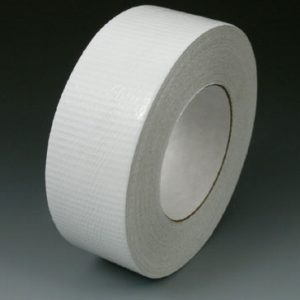 "2"" x 180' Colored Duct Tape - White (9 mil) - 24 Rolls per Carton"