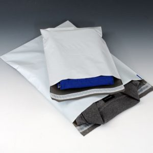 "10-1/2"" x 16"" Coextruded White Poly Mailers (2.5 mil) (100 Mailers)"