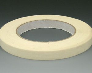 "3/4"" x 180' Economy Masking Tape - Tan - 18.5 lb. Tensile Strength"