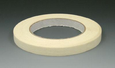 "1"" x 180' Economy Masking Tape - Tan - 18.5 lb. Tensile Strength"