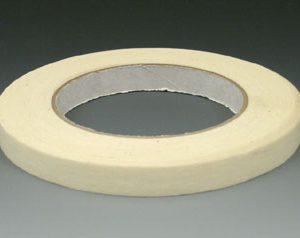 "1/2"" x 180' Economy Masking Tape - Tan - 18.5 lb. Tensile Strength"