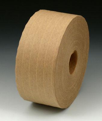 "2-3/4"" x 450' Economy Fiberglass Reinforced Kraft Gummed Carton Sealing Tape - Tan (#233 Grade) (10 per carton)"