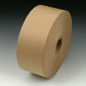 "3"" x 600' Non-Reinforced Kraft Gummed Carton Sealing Tape - Tan (#160 Grade) (10 per carton)"