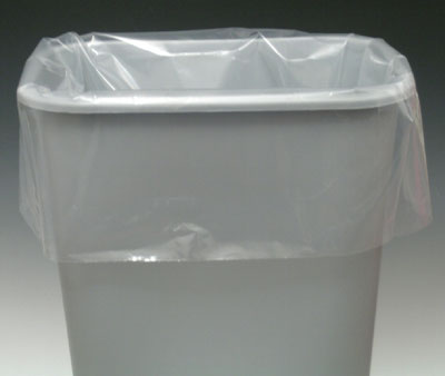 """22"""" x 16"""" x 58"""" Linear Low Density Gusseted Poly Liner - Clear (1.1 mil) (100 per carton)"""