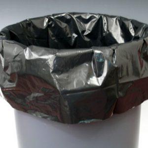 """15"""" x 9"""" x 32"""" Low Density Gusseted Trash Bags - Black (1 mil) (500 per carton)"""