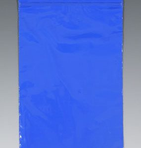 "10"" x 12"" Our Own Brand Colored Zipper Bag - Blue (2 mil) (1000 per carton)"