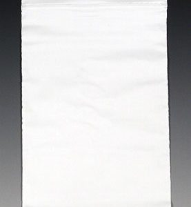 "10"" x 12"" Our Own Brand Colored Zipper Bag - White (2 mil) (1000 per carton)"