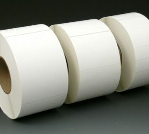 "3"" x 1"" White Thermal Transfer Labels - White (5,100 Labels per Roll; 6 Rolls per Carton)"