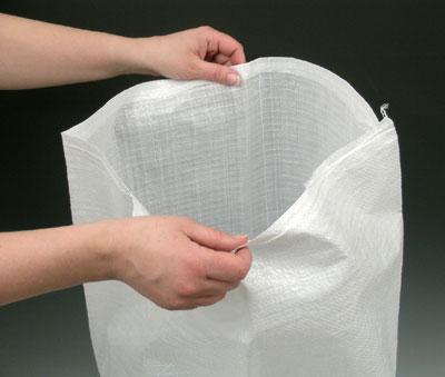 """22"""" x 36"""" Woven Polypropylene Bag - White (100 per bundle)"""