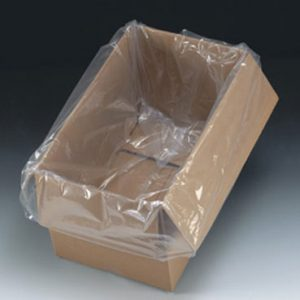 "27"" x 20"" x 56"" Low Density Gusseted Poly Bag - Perforated on a Roll of 80 Bags (4 mil) (80 per roll)"