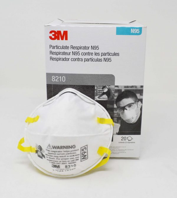 3m n95 respirator masks white 20/box - 8210