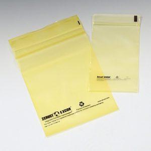 "12"" x 18"" Zerust® VCI Anti-Rust Zipper Poly Bag - Yellow Tinted (4 mil) (500 per carton)"