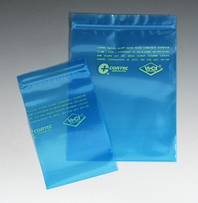 "12"" x 18"" Cortec® VpCI® Anti-Corrosion Zipper Poly Bag (4 mil) (500 per carton)"