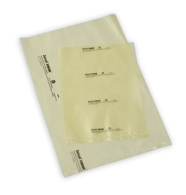 "8"" x 8"" Zerust® VCI Anti-Rust Flat Poly Bag - Yellow Tinted (4 mil) (1000 per carton)"