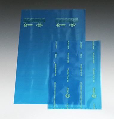 "9"" x 12"" Cortec® VpCI® Anti-Corrosion Flat Poly Bag (4 mil) (1000 per carton)"