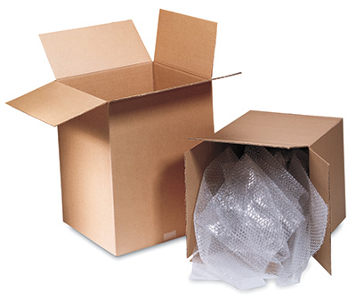 "12"" x 10"" x 4"" Single Wall Corrugated Box - Kraft  (25 per bundle)"