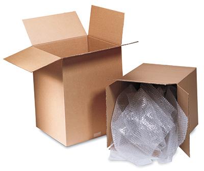 "12-3/4"" x 6-3/8"" x 13-1/2"" Single Wall Corrugated Box - Kraft  (25 per bundle)"