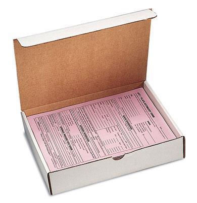 "12"" x 11-3/4"" x 3-1/4"" Corrugated Document Box - White  (50 per bundle)"