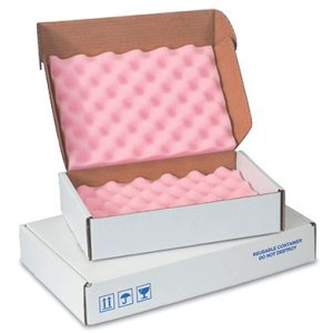 "22"" x 18"" x 2-3/4"" Anti-Static Foam-Lined Corrugated Box (200-lb. Test / 32-lb. ECT) (12 per carton)"