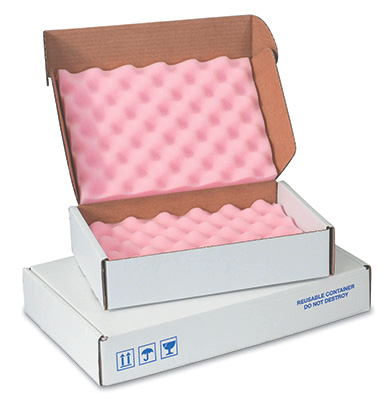 "12"" x 8"" x 2-3/4"" Anti-Static Foam-Lined Corrugated Box (200-lb. Test / 32-lb. ECT) (12 per carton)"