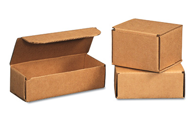 "10"" x 4-7/8"" x 3-3/4"" Corrugated Mailer - Kraft  (100 per bundle)"