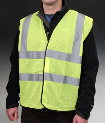 High Visibility ANSI Class 2 Safety Vest - Fluorescent Green - 5X-Large