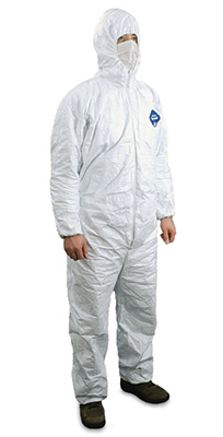 Tyvek® Coveralls with Hood - 3X-Large (25 per carton)