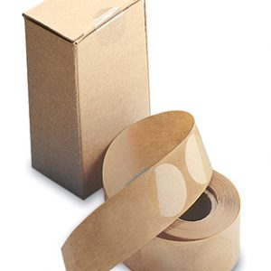 """2"""" Circle Clear Round Retail Package Seals with Perforation Through Center of Seal (500 Seals)"""
