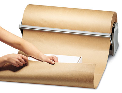 """36"""" x 1200' Kraft Wrapping Paper on a Roll (30 lb.)"""