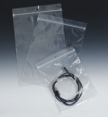 """3"""" x 8"""" Our Own Brand Zipper Bag with Hang Hole (2 mil) (1000 per carton)"""