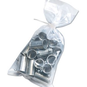 "10"" x 13"" Low Density Flat Poly Bag (3 mil) (1000 per carton)"