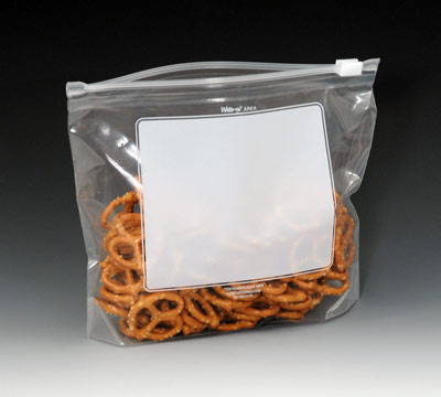 """14"""" x 11"""" Our Own Brand Write-on® Slider Zipper Bags with 3"""" Bottom Gusset (2.7 mil) (250 per carton)"""