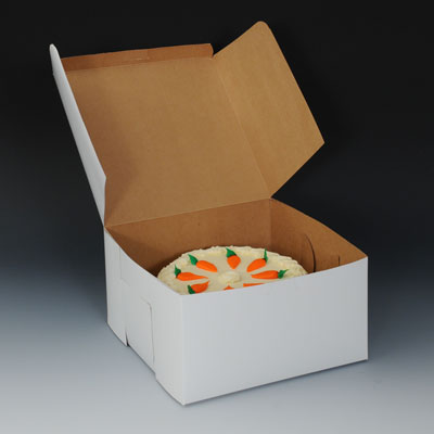 "10"" x 10"" x 2-1/2"" Bakery Box (250 per bundle)"