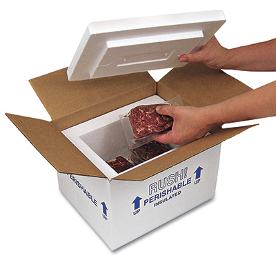 "19"" x 12"" x 12-1/2"" Insulated Styrofoam Shipping Box"