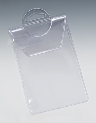 """10"""" x 12"""" Vinyl Pouch with Flap and Strap Closure (7.5 gauge) (25 per carton)"""